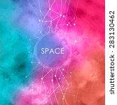 abstract vector watercolor... | Shutterstock .eps vector #283130462