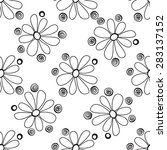 floral seamless pattern in the... | Shutterstock .eps vector #283137152