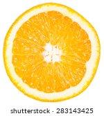 Slice Of Ripe Orange Isolated...