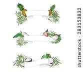 vector light ribbon banners... | Shutterstock .eps vector #283153832