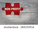 wood puzzle  non profit | Shutterstock . vector #283153916