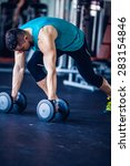 fitness instructor at the gym   ... | Shutterstock . vector #283154846