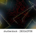 abstract color lines on a... | Shutterstock . vector #283162958