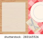 cookbook background  can be... | Shutterstock .eps vector #283165526