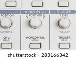 close up oscilloscope control... | Shutterstock . vector #283166342