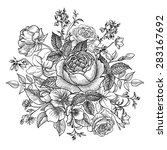 flower bouquet. floral frame.... | Shutterstock .eps vector #283167692