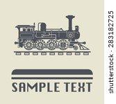 Locomotive Icon Or Sign  Vector ...