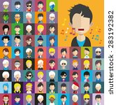 collection of avatars12    65... | Shutterstock .eps vector #283192382