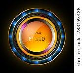 golden frame | Shutterstock .eps vector #283193438