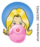 vector illustration of a girl... | Shutterstock .eps vector #28319401
