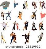 dancing. | Shutterstock .eps vector #28319932