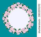 rose flowers vector | Shutterstock .eps vector #283205192