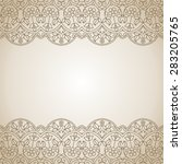 floral oriental pattern. | Shutterstock .eps vector #283205765