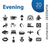 evening icons | Shutterstock .eps vector #283206956