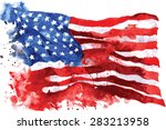 flag of america  hand drawn... | Shutterstock .eps vector #283213958