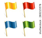 set of colorful flags | Shutterstock . vector #283215578