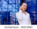 business women in white on... | Shutterstock . vector #28321882