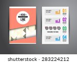 flyer  brochure design... | Shutterstock . vector #283224212