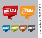 vector   big sale  special  big ... | Shutterstock .eps vector #283225412