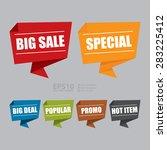 vector   big sale  special  big ...   Shutterstock .eps vector #283225412