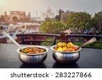 aloo gobi and sabji masala... | Shutterstock . vector #283227866