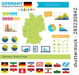 germany infographic elements ... | Shutterstock .eps vector #283230842