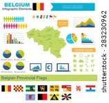 belgium infographic elements ... | Shutterstock .eps vector #283230962