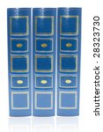 Books with blue cover - stock photo