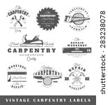 set of carpentry labels.... | Shutterstock .eps vector #283238078