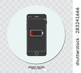 smart phone and battery symbol | Shutterstock .eps vector #283241666