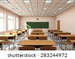 modern classroom 3d interior in ...   Shutterstock . vector #283244972