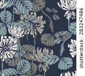 clover seamless pattern  eps 8 | Shutterstock .eps vector #283247486