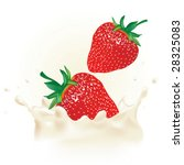 realistic strawberry in vector... | Shutterstock .eps vector #28325083
