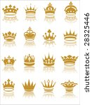 gold crown collection vector... | Shutterstock .eps vector #28325446