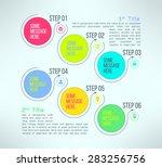 vector business process steps... | Shutterstock .eps vector #283256756