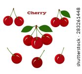 cherry fruit on a white... | Shutterstock .eps vector #283261448