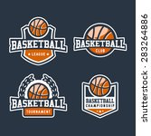set of sport basketball badge... | Shutterstock .eps vector #283264886