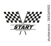 the start icon. start symbol.... | Shutterstock .eps vector #283269302