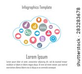 cloud infographics. abstract... | Shutterstock .eps vector #283283678