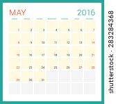 calendar 2016. vector flat... | Shutterstock .eps vector #283284368