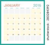 calendar 2016. vector flat... | Shutterstock .eps vector #283284392
