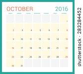 calendar 2016. vector flat... | Shutterstock .eps vector #283284452