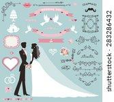 wedding invitation flourish... | Shutterstock .eps vector #283286432