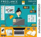 freelance infographic template. ... | Shutterstock .eps vector #283288265