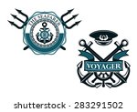 retro voyager and seafarer... | Shutterstock .eps vector #283291502