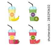 set of smoothie illustration ...   Shutterstock .eps vector #283293632