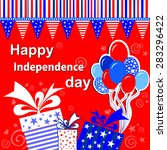 happy independence day ... | Shutterstock .eps vector #283296422