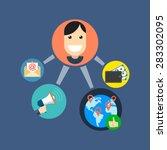 referral marketing concept....   Shutterstock .eps vector #283302095