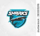 modern professional sharks logo ... | Shutterstock .eps vector #283305098