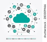 cloud surrounded by abstract... | Shutterstock .eps vector #283309466